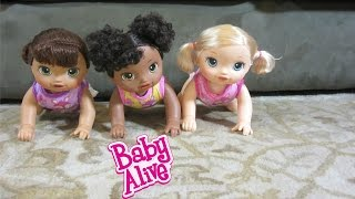 Video Baby Alive Go Bye-Bye Dolls have a crawling race!  + Help name 2! download MP3, 3GP, MP4, WEBM, AVI, FLV November 2017