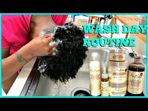 #NEWLYNATURAL 1ST FULL WASH DAY ROUTINE W/ SHEA MOISTURE JBCO LINE