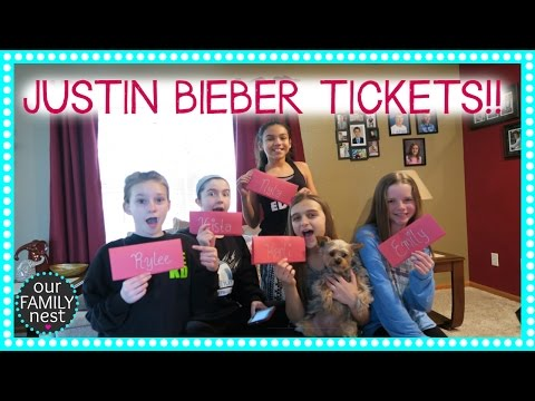 TREASURE HUNT LEADS TO.... JUSTIN BIEBER CONCERT TICKETS!!