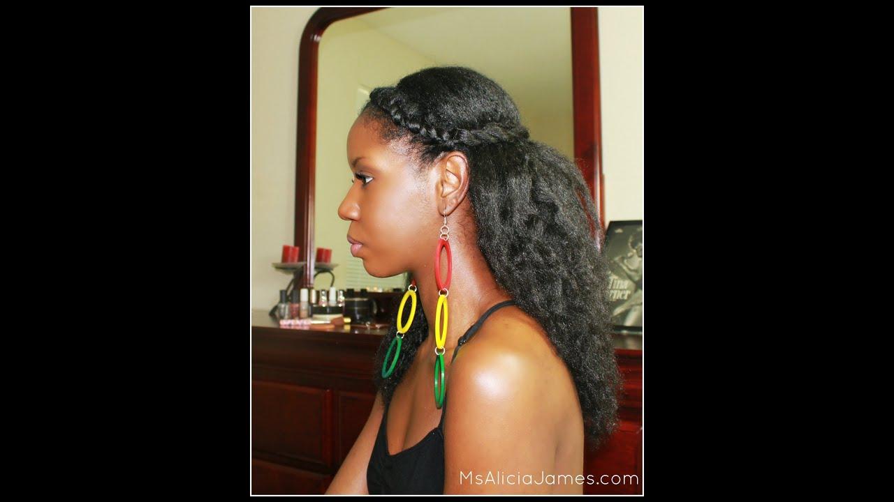 Twisted Half Updo  SpringSummer Natural Hairstyle