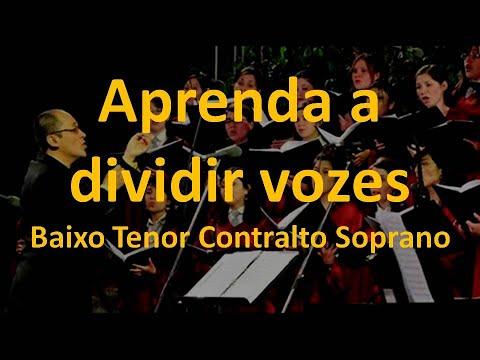 APRENDA A DIVIDIR VOZES Baixo Tenor Contralto Soprano Coral 4 Vozes Backing Vocal Prof. Akira