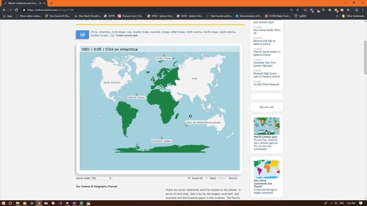 Australia Map Quiz Online.Seterra Map Quiz Continents And Oceans Pin 100 0 08