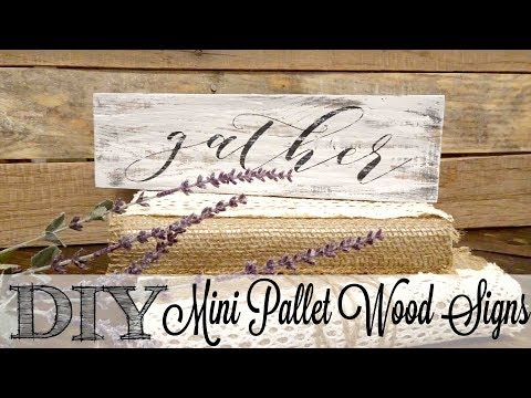 DIY Mini Pallet Wood Signs | Fixing Paint Bleeds