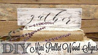 DIY Mini Pallet Wood Signs | Fixing Paint Bleeds