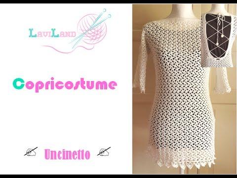 Copri Costume Uncinetto Parte 1 Di 2 Crochet Beach Dress Youtube