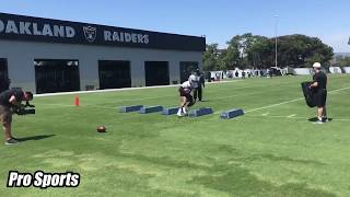 Josh Jacobs Oakland Raiders Rookie RB First Camp!