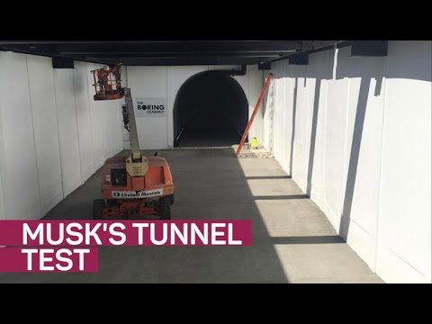 Elon Musk posts traffic tunnel test video on Instagram