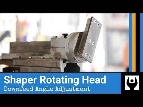 Rotating Head - Downfeed Angle Adjustment for Gingery Shaper