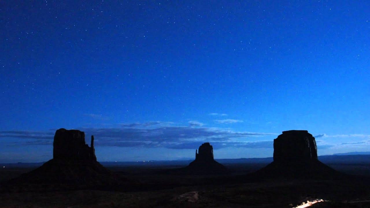 Desert Landscape Wallpaper Hd Monument Valley Night Sky Youtube
