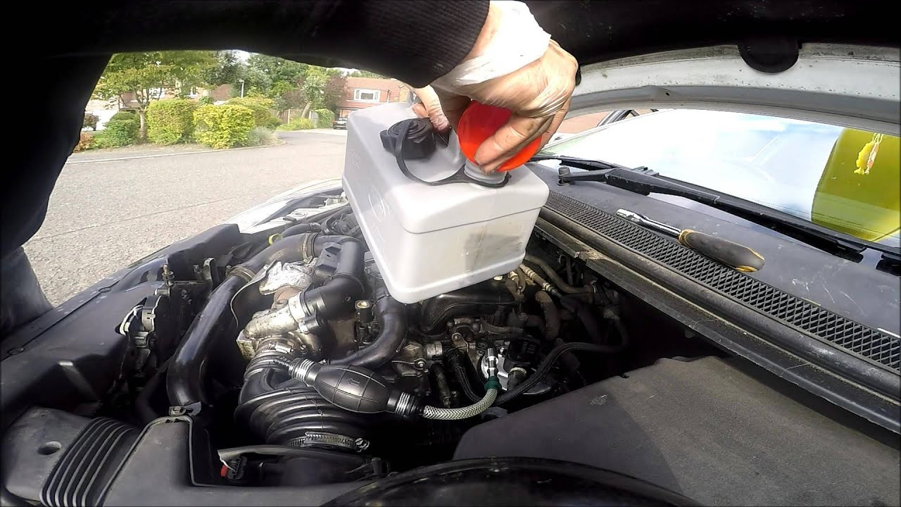 how to change ford 1 6 tdci hdi fuel filter replacement diy  [ 1280 x 720 Pixel ]