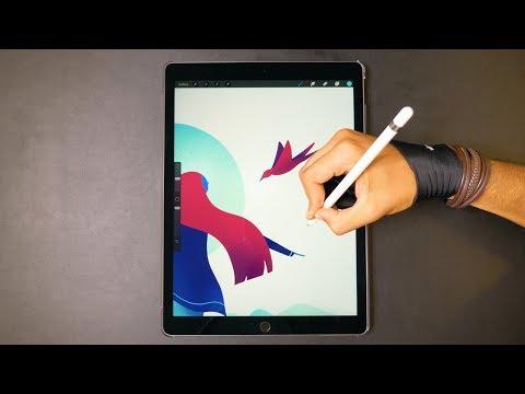 Digital Art with iPad Pro ✍️ (4K Drawing Video)