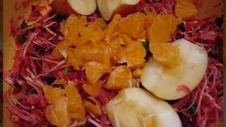 Овощной зимний  салат , очень простой!