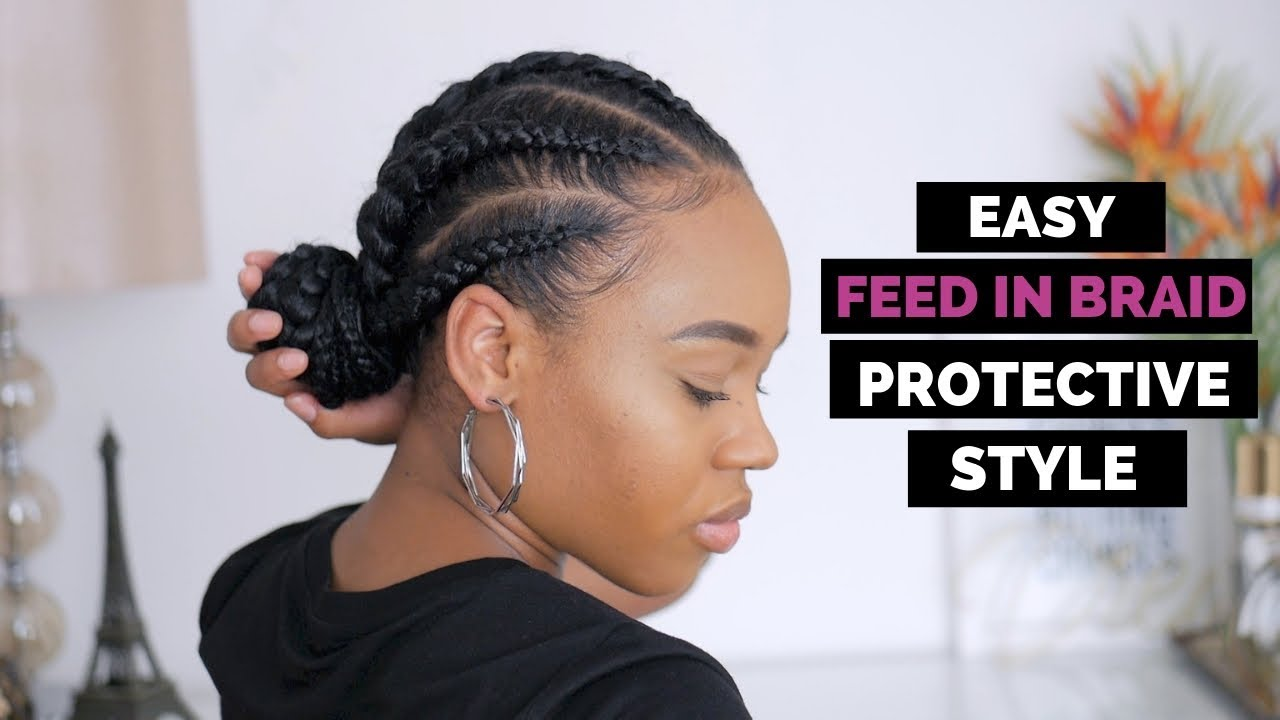 Easy Feed In Braids Protective Style | How To Style Thursday