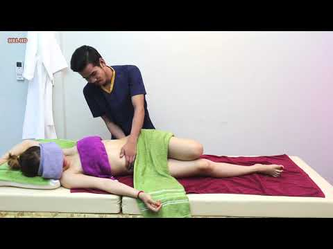 Traditional Abdominal Massage Therapy Reflexology Techniques, Neck To Reduce Muscles And Relaxing