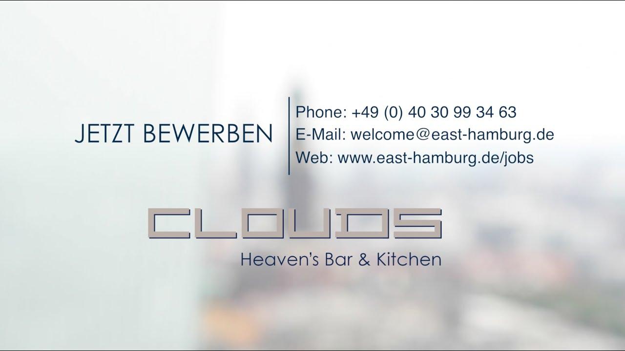 Bewirb\' Dich jetzt im clouds Restaurant Hamburg