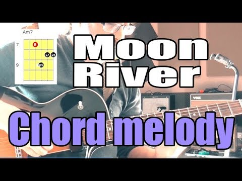 Moon River Jazz Guitar Chord Melody Lesson With Shapes Youtube