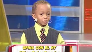 Niño de 4 años se roba el show en AQUI SE HABLA ESPAÑOL