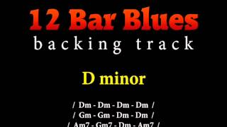 Slow blues backing track in D minor for guitar solo (12 bar blues)