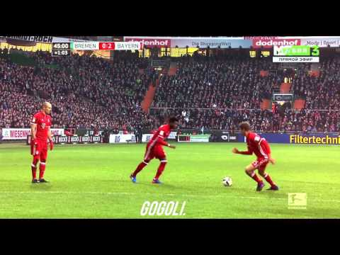 David Alaba Free Kick Goal Vs Werden Bremen