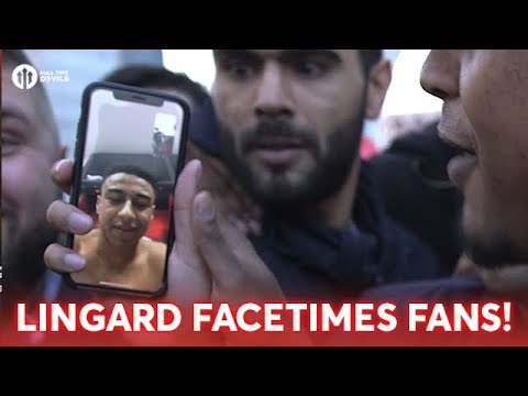 JESSE LINGARD FACETIMES FANS FROM DRESSING ROOM!