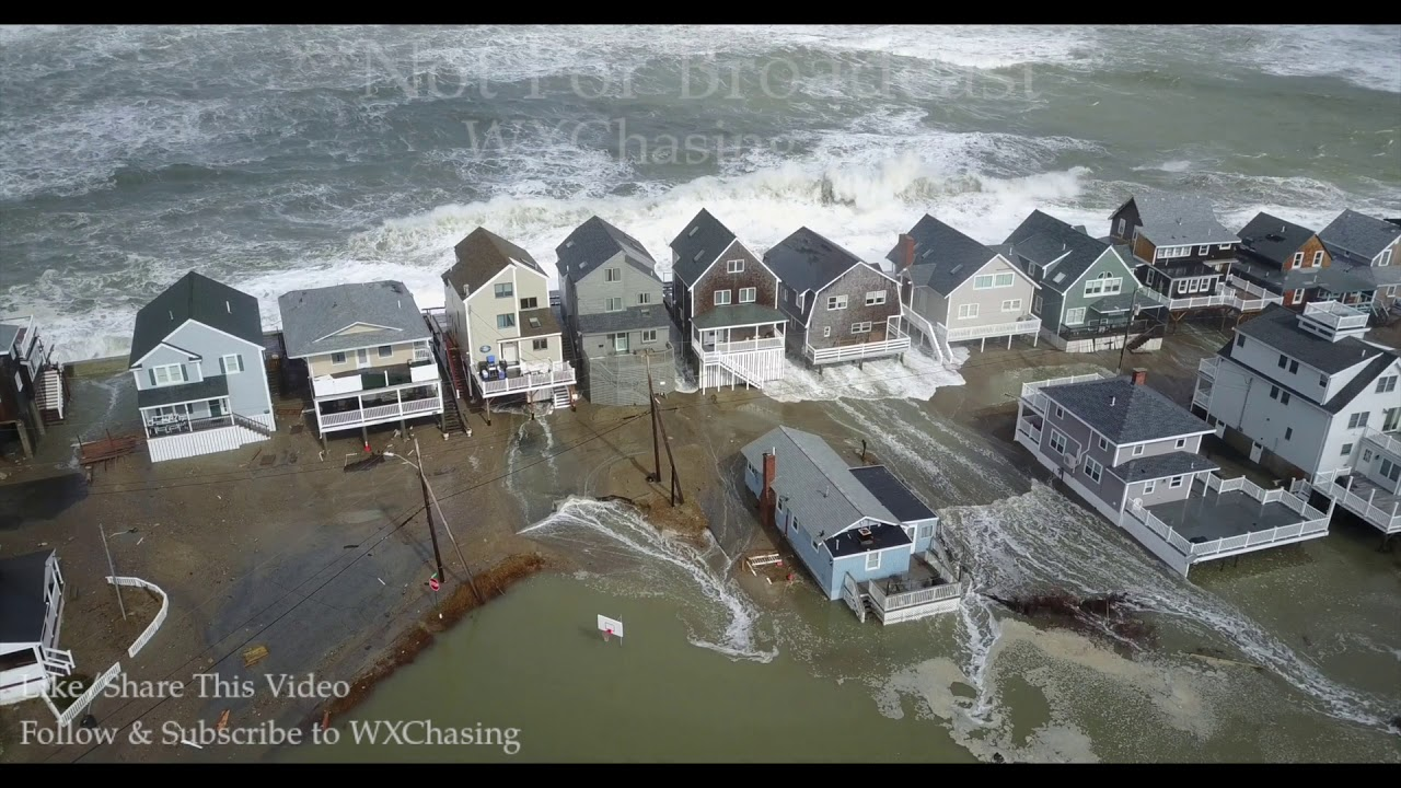3-3-2018 Scituate, Ma Incredible drone footage waves ...
