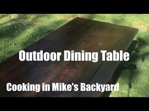 Outdoor Dining Table - Cooking in Mike's Backyard