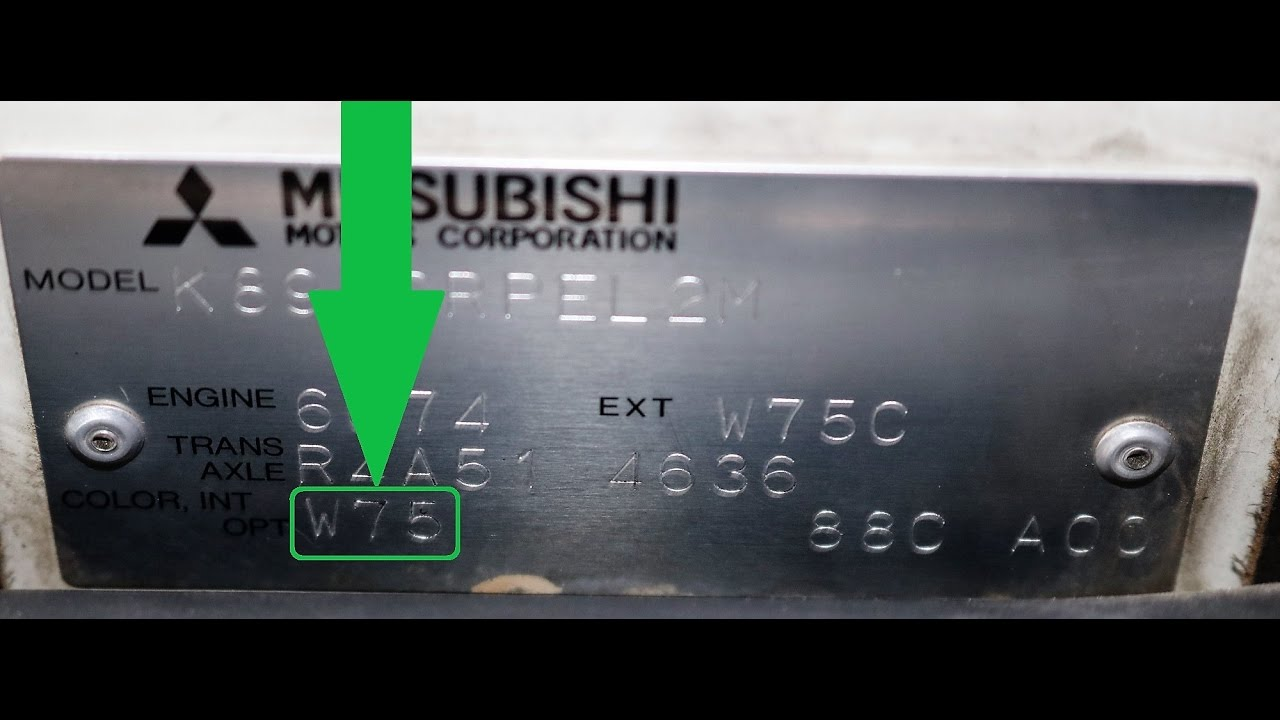 2014 Lancer Fuse Box Location How To Find Your Mitsubishi Paint Code Youtube