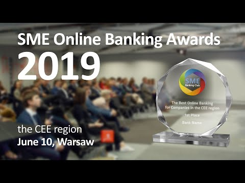 SME Online Banking Awards 2019. CEE region. 10 June, Warsaw,