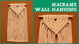 DIY Macrame Wall Hanging / 마크라…