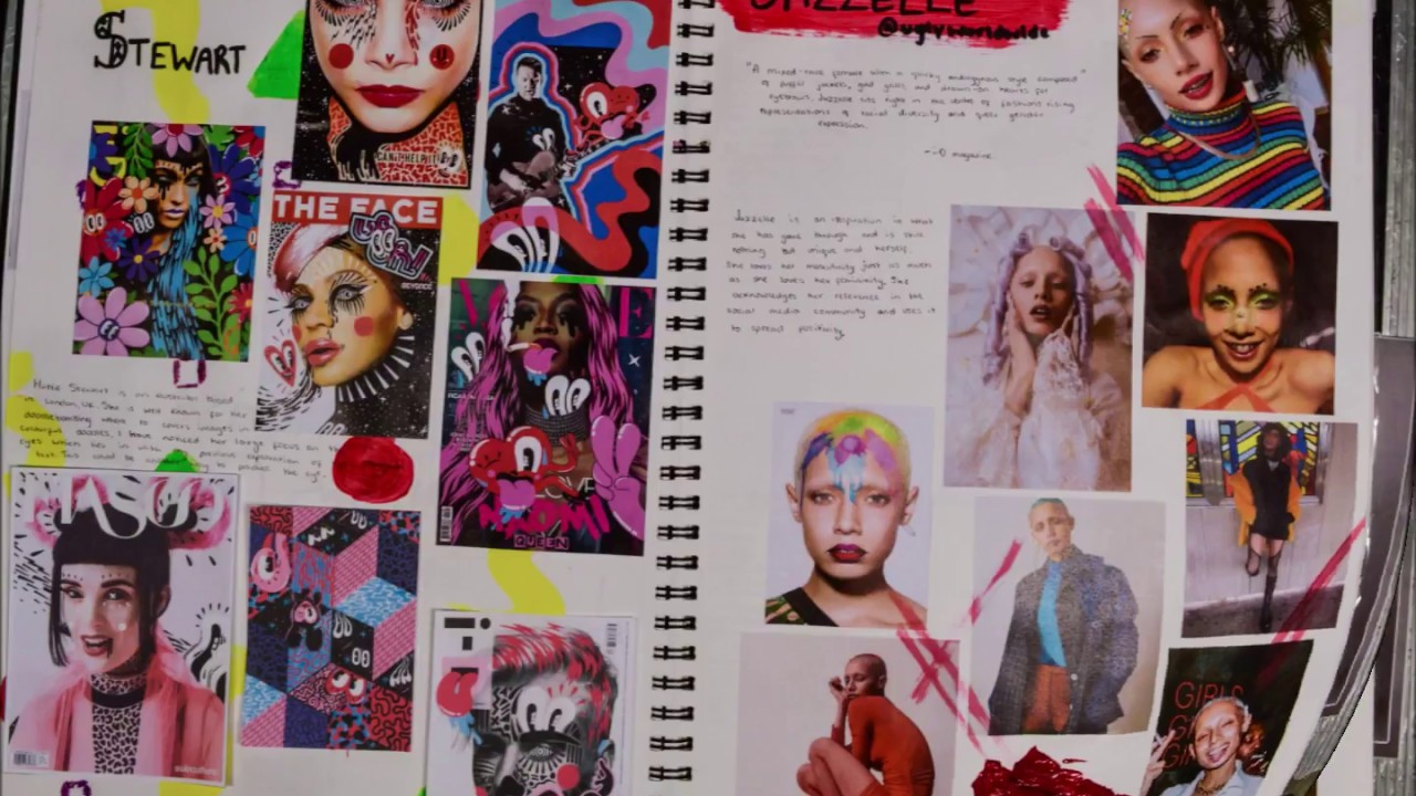 Ual Level 3 Extended Diploma Fmp Sketchbook Example Distinction