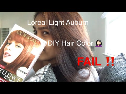 DIY Loréal LIGHT AUBURN (Hair color)