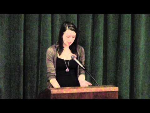 "Carli '16 reads John Berryman's ""Dream Song 14"" at Paul K. Bergan Poetry Festival"