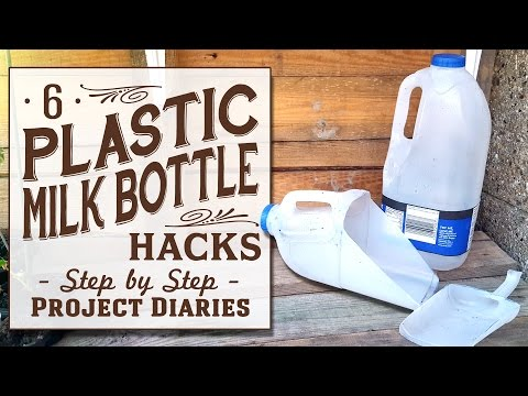 ★ 6 Plastic Milk Bottle Hacks (Useful & Free Gardening Tools)