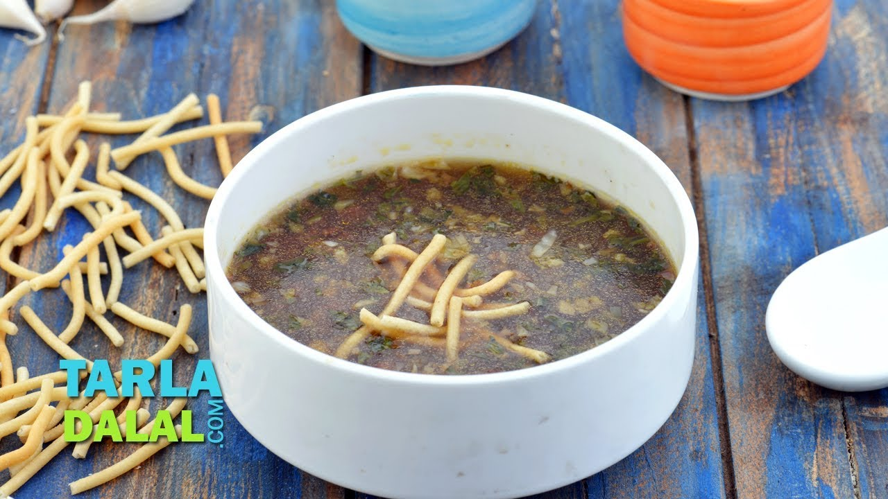 Manchow soup veg manchow chinese soup by tarla dalal youtube forumfinder Image collections