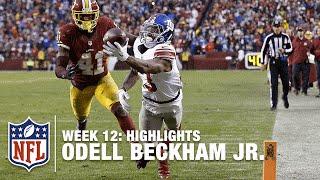 Odell Beckham Jr. Highlights (Week 12) | Giants vs. Redskins | NFL