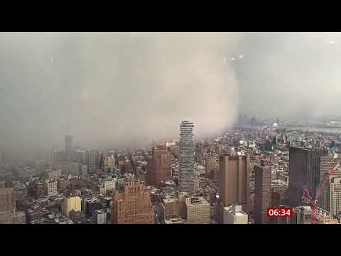 Weather Events 2019 –  Snow Squall hits New York (USA) – BBC – 19th December 2019