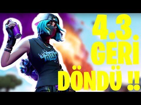 4.3 GERİ GELDİ !! (Fortnite Türkçe)