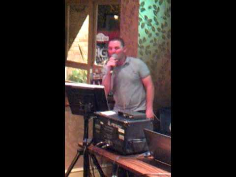 Spud doing karaoke