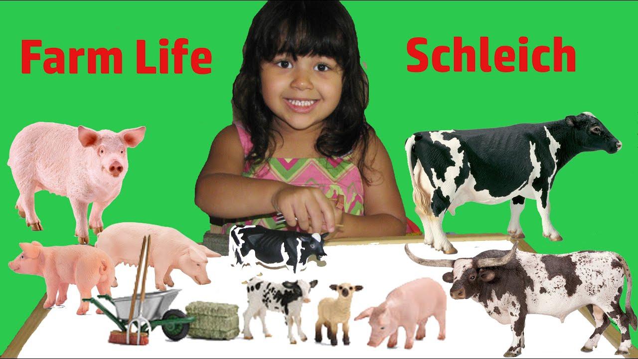 Learn Farm Animals Names For Kids Animal Toys Video Farm Animals