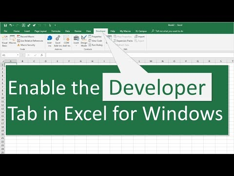 How to Enable the Developer Tab in Excel for Windows - Excel