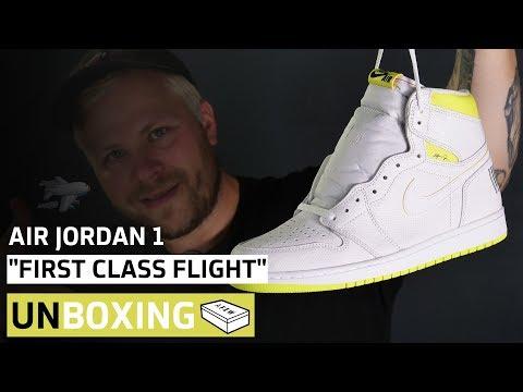 """Nike Air Jordan 1 High """"First Class Flight""""   Unboxing + On-Feet   AFEW STORE"""