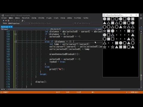 パズドラを小一時間で作ってみた【プログラミング実況】Programming Match-Three Game