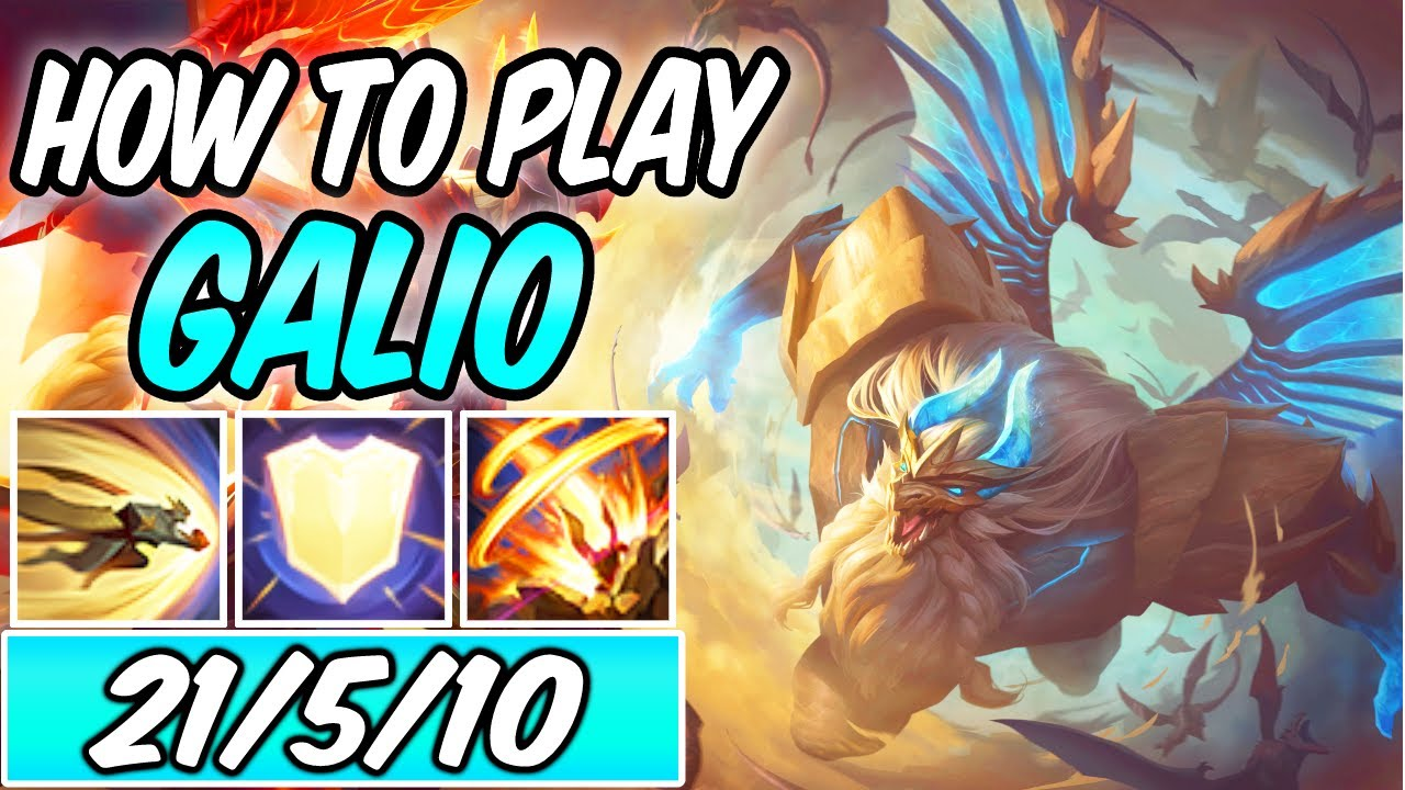 DRAGON GUARDIAN GALIO | HOW TO PLAY GALIO MID DIAMOND GUIDE | Build & Runes S11 | League of Legends