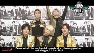 "Official Video Greeting of SHINee Concert ""SHINee World III"" in JAKARTA"