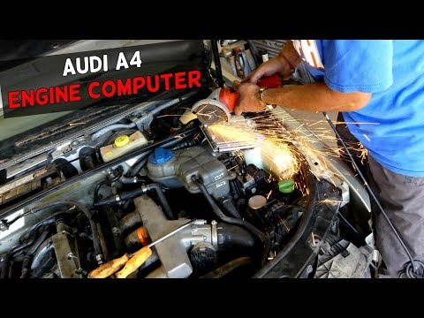 AUDI A4 B6 ECU REMOVAL REPLACEMENT Engine Computer