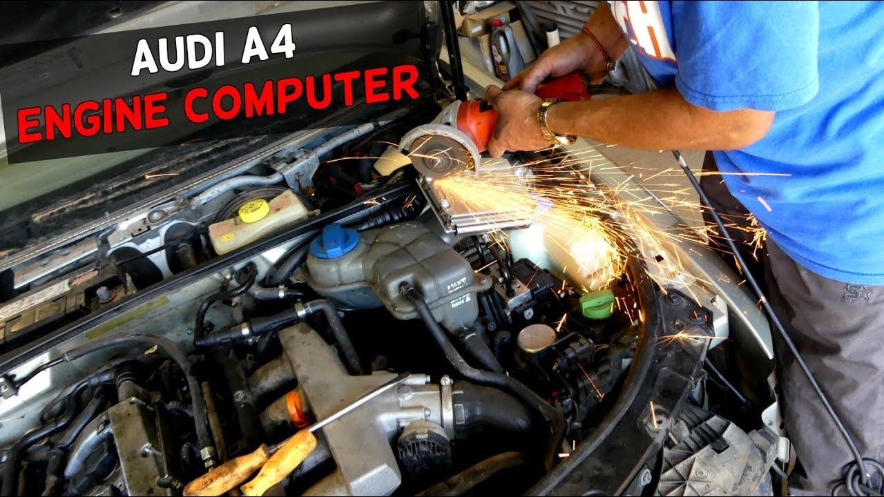 And Bmw Abs Control Module Wiring Diagram Audi A4 B6 Ecu Removal Replacement Engine Computer Youtube