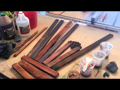 Diy Wood Finishing - Vinegar And Steel Wool! Tips And Tricks