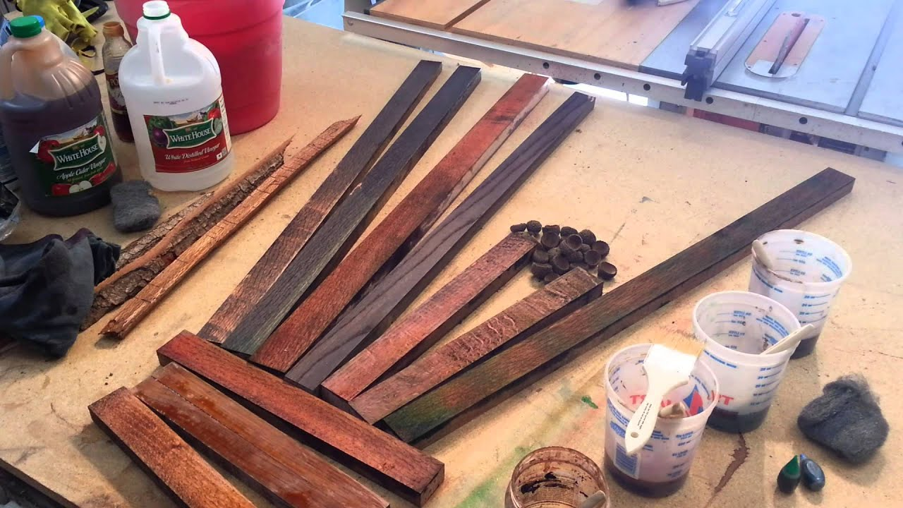 diy wood finishing vinegar and steel wool tips and tricks youtube