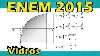 (Enem 2015/2016) Questão 165 Resolvida Matemática (Gabarito/Correção) logaritmo