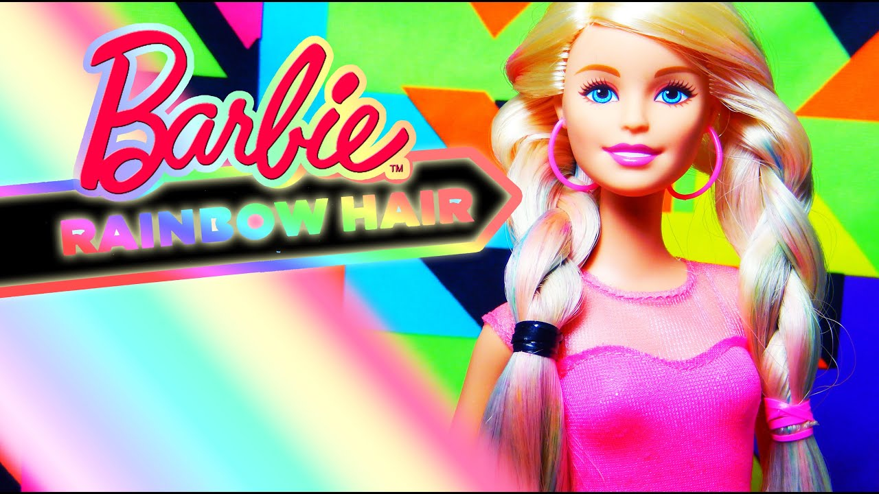 Barbie Rainbow Hair Doll Review! - YouTube